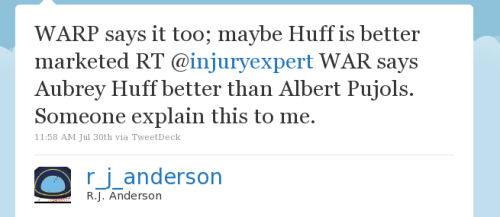 WARP says it too; maybe Huff is better marketed